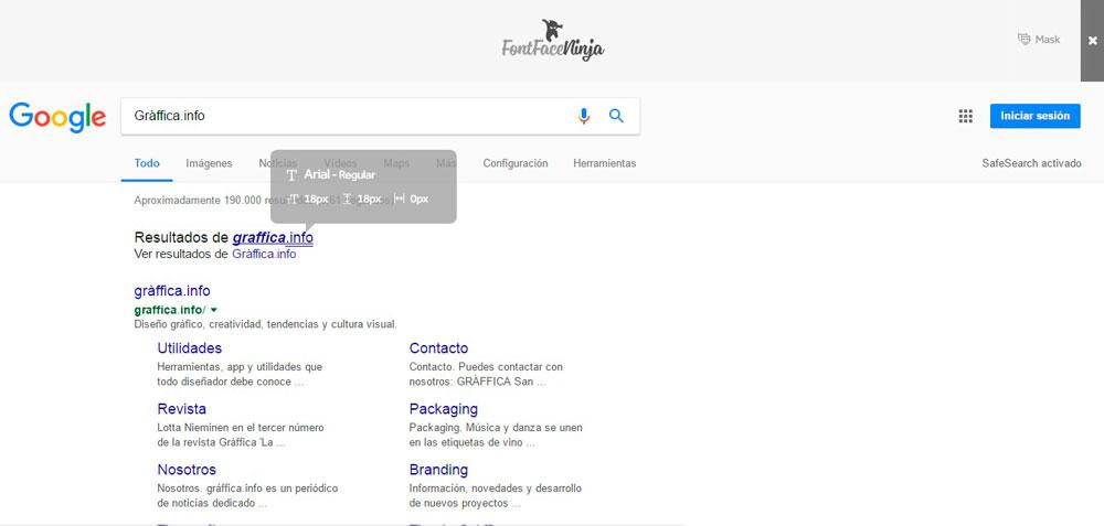Fontface Ninja, el complemento que identifica fuentes