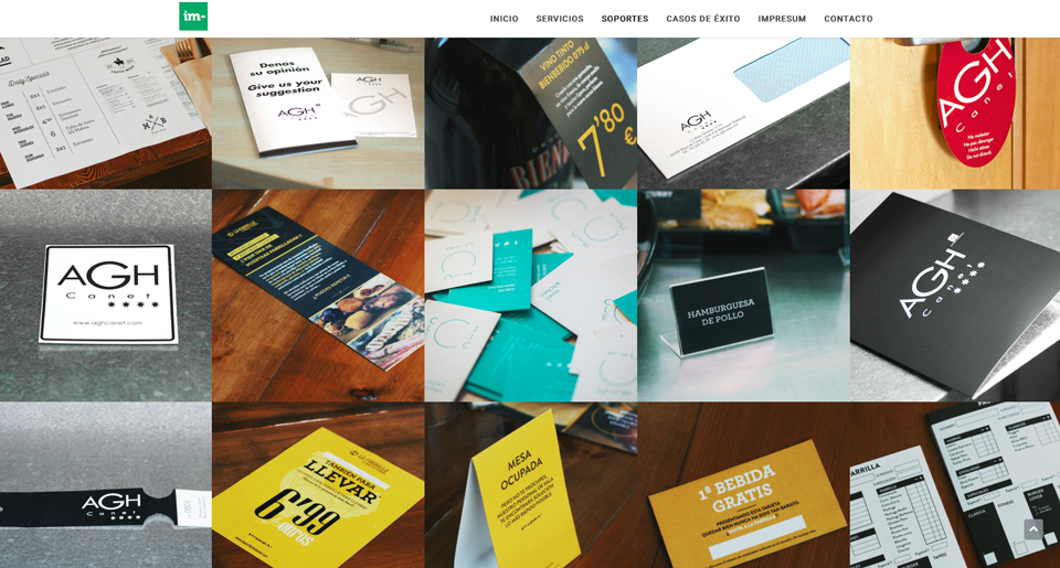 Galería de productos para hostelería Impresum Pro
