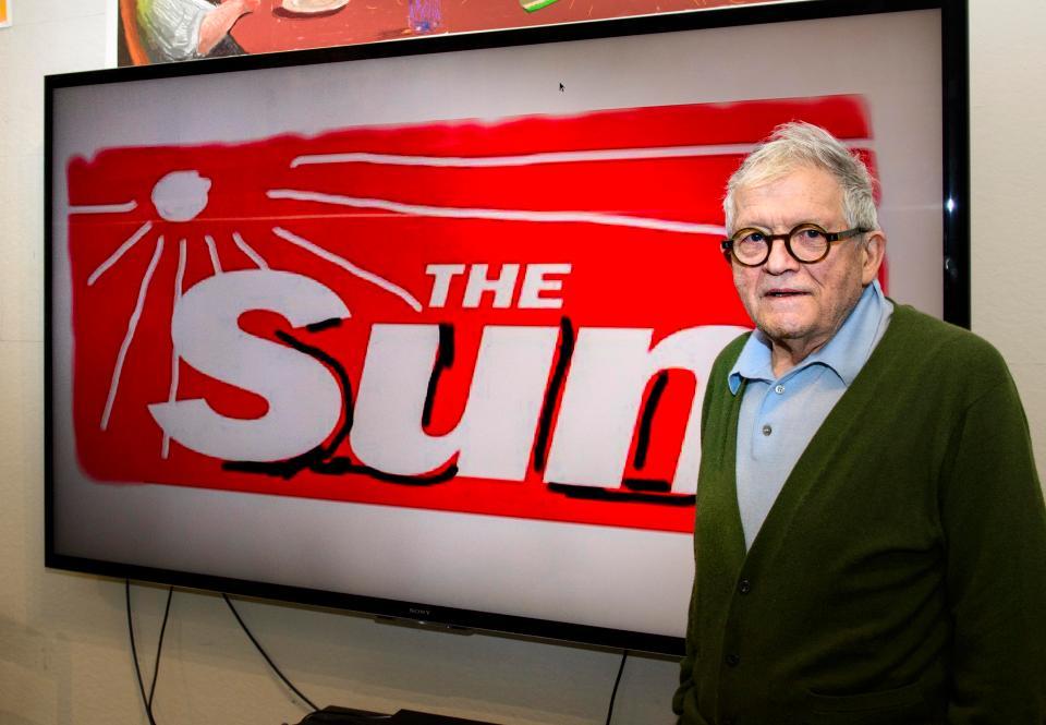 David Hockney rediseña el logotipo del periódico The Sun
