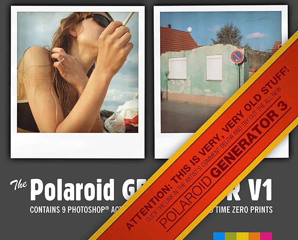 Generador de formato Polaroid por Rawimage
