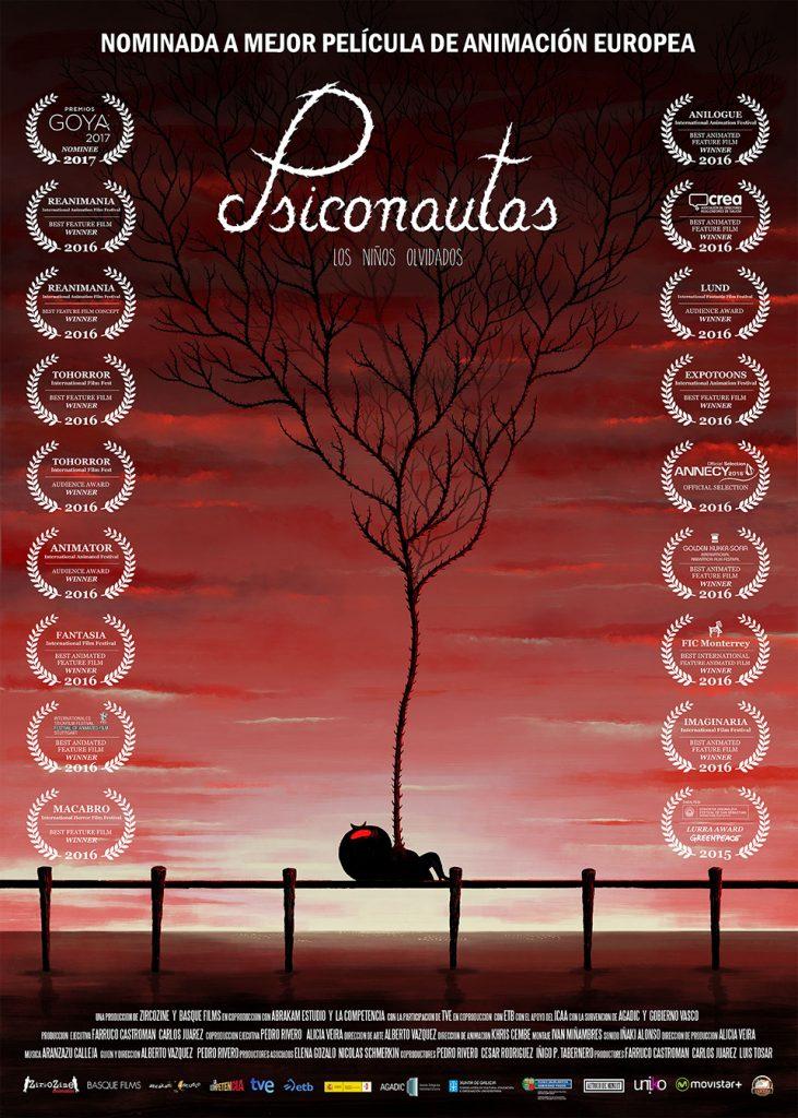 Goya 2017 a la mejor película de animación para 'Psiconautas, los niños olvidados', de Alberto Vázquez y Pedro Rivero