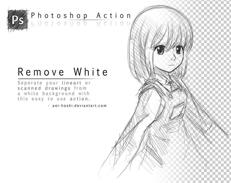 Remove White- Photoshop Action por darue