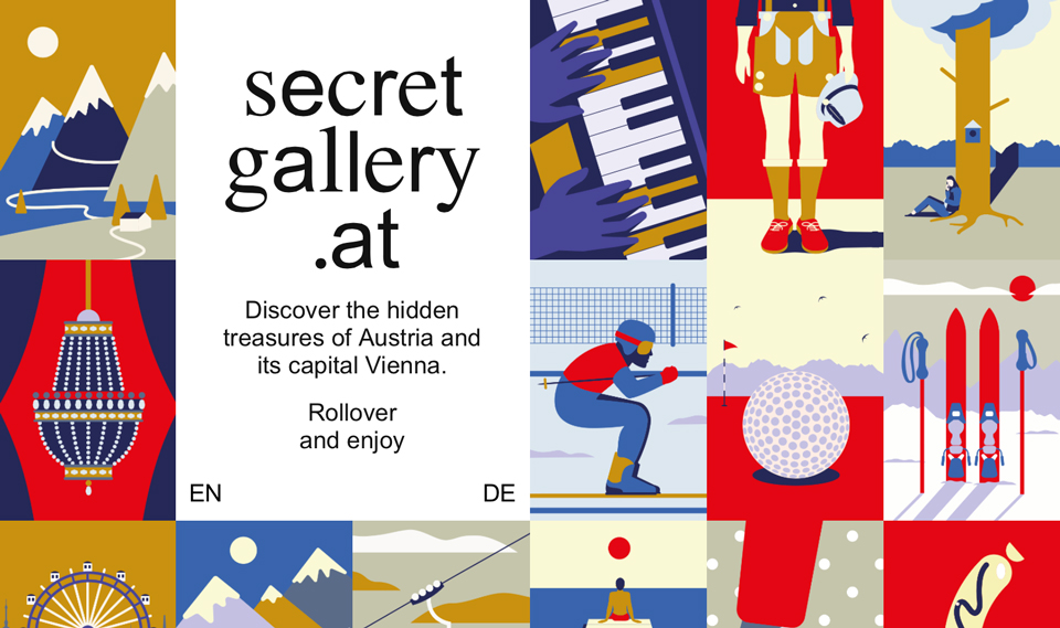 Secretgallery.at, por seite zwei - branding & design, Daniel Triendl y Karan Singh - impresión lenticular
