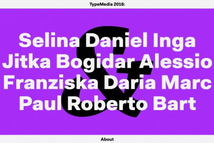 Prepara el babero: publicados los proyectos finales TypeMedia 2016