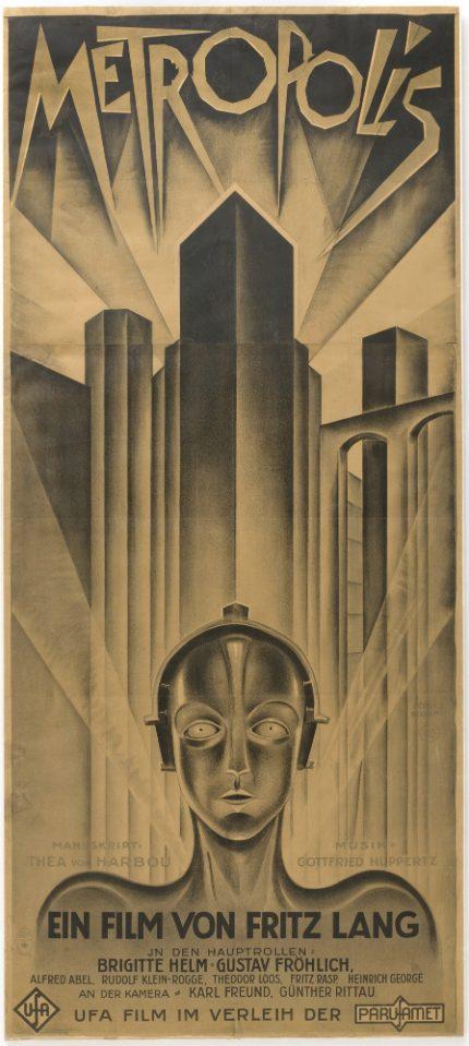 ¿Quién diseñó el cartel de la película Metrópolis?