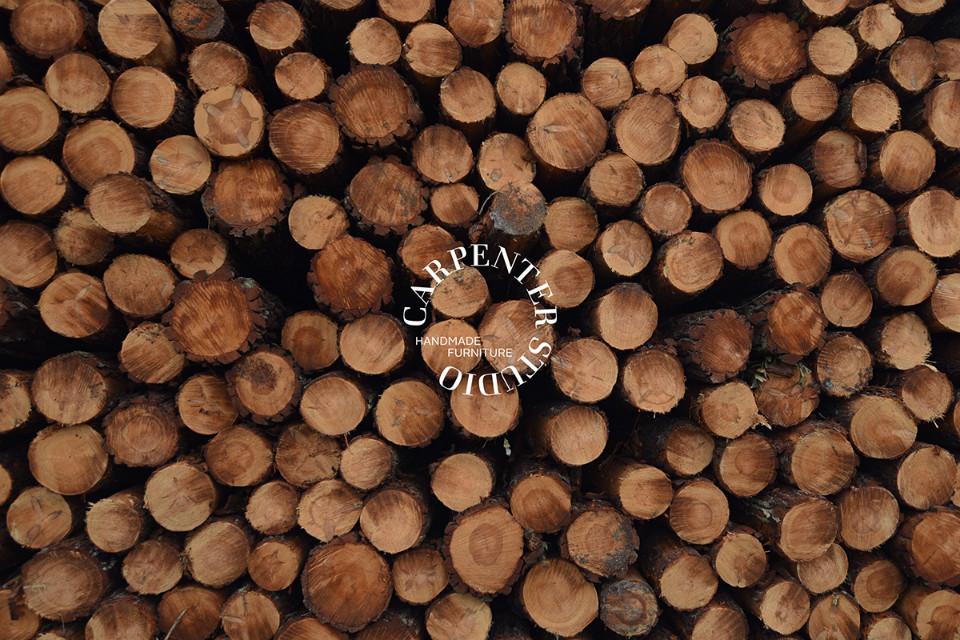 Logotipo de Carpenter Studio sobre fotografía de producto