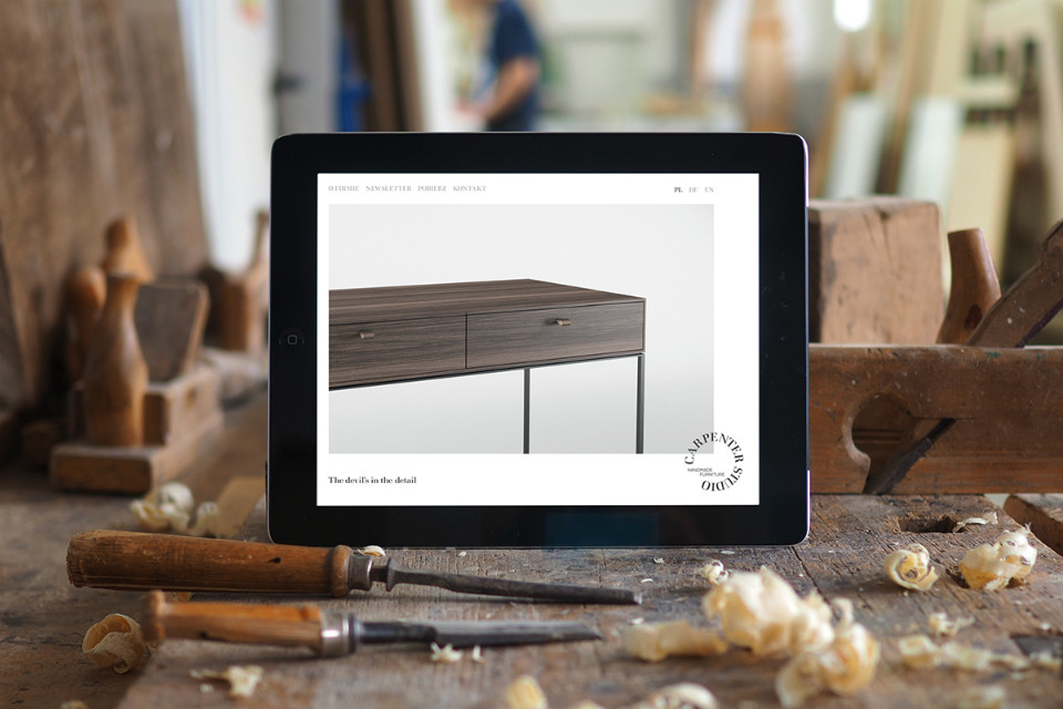 Diseño responsive de la website de Carpenter Studio