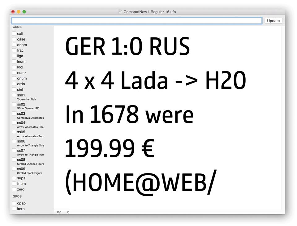 Comspot, una tipografía con sabor a tipografía de máquina de escribir - 3