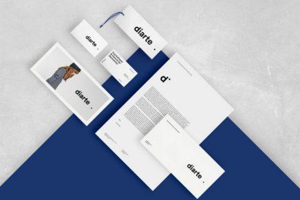 El concepto 'punto' como base del logo de la firma de ropa Diarte