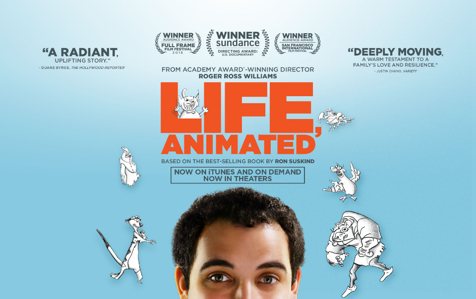 Cartel oficial del documental 'Life, Animated'