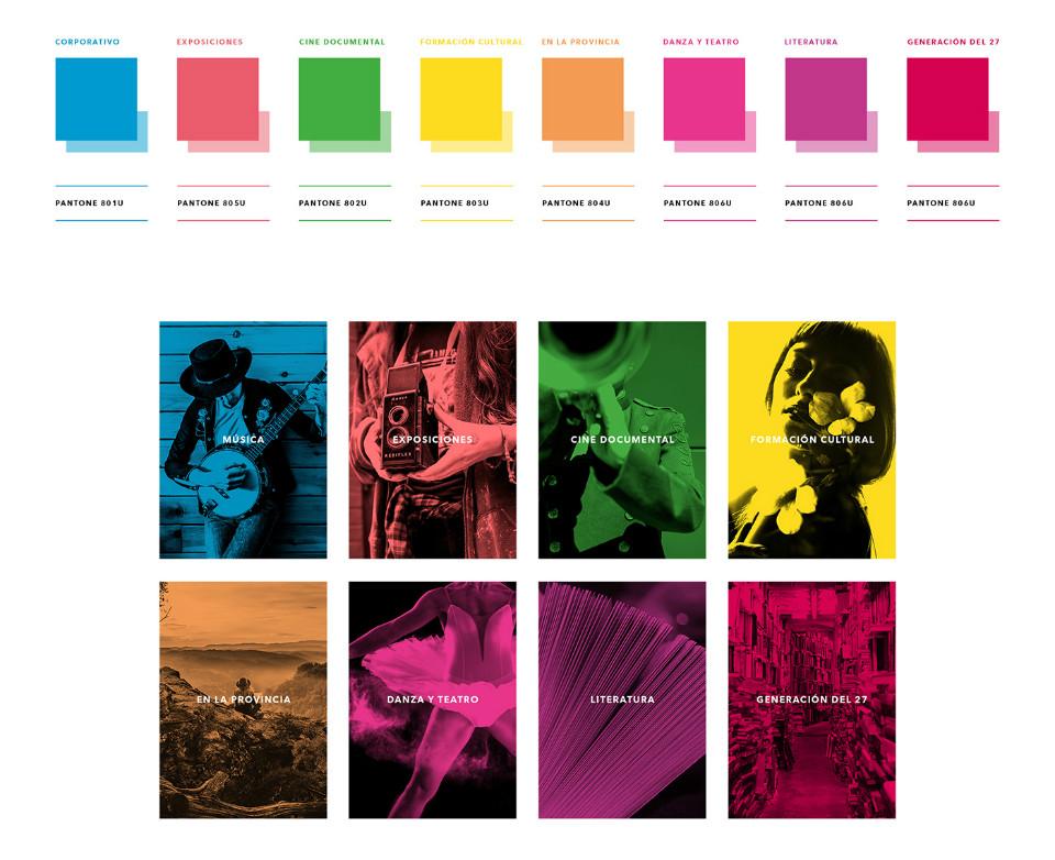 Paleta de color que ilustra la nueva identidad visual del MVA