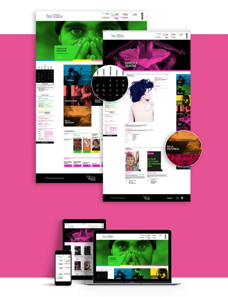 Web corporativa del MVA diseñada por Narita Estudio