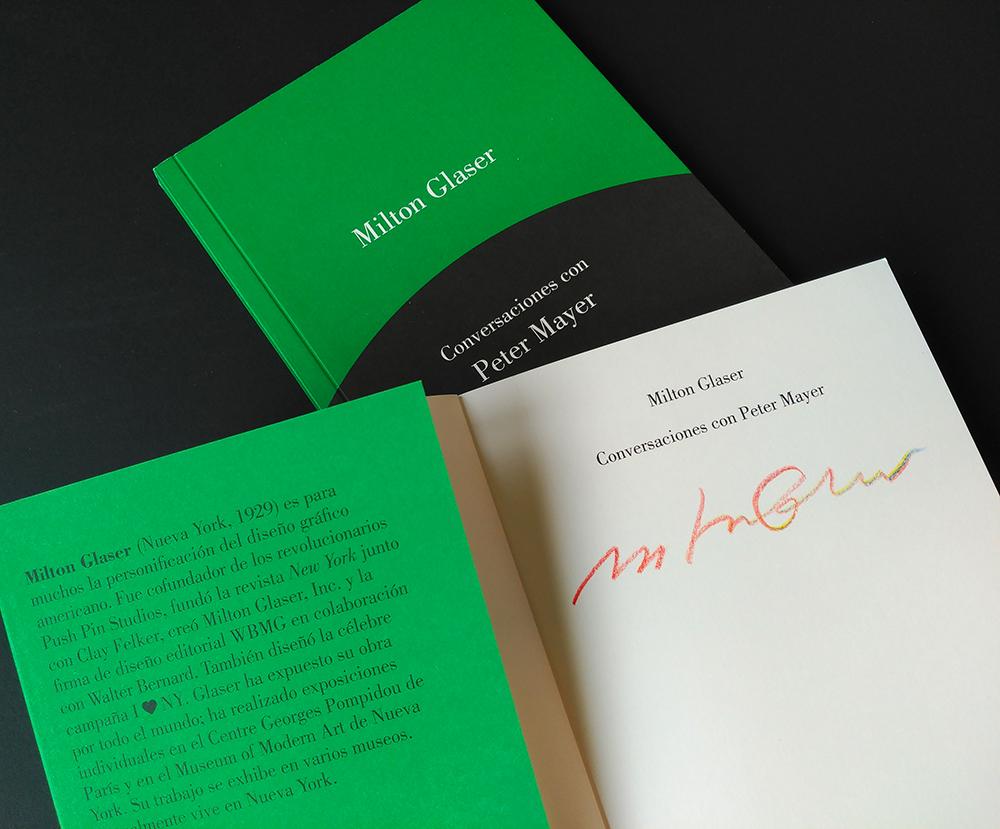 Milton Glaser. Conversaciones con Peter Mayer (Gustavo Gili)