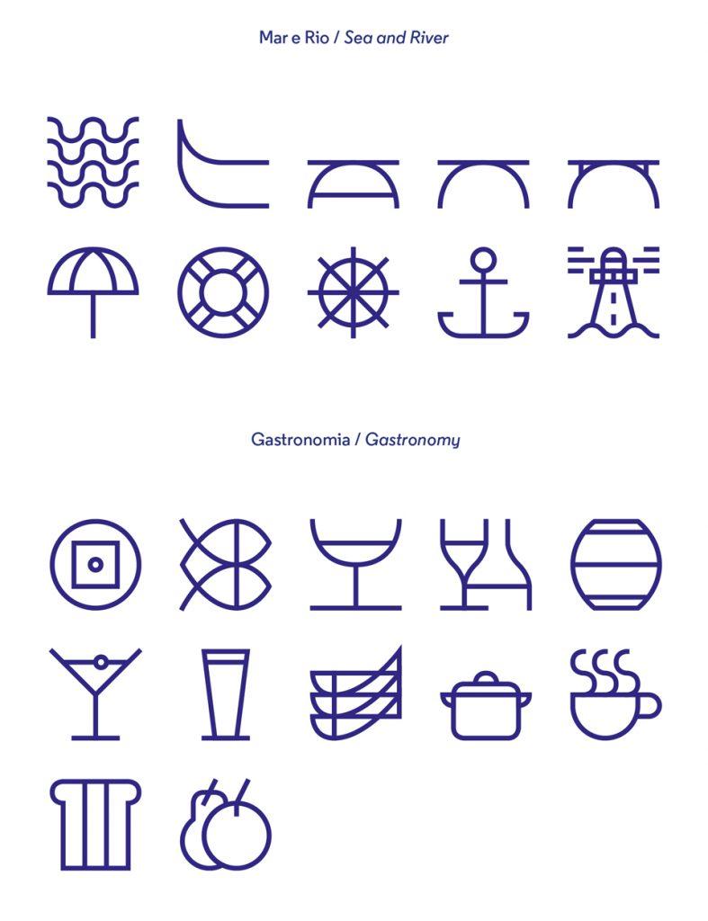 Iconos de la identidad de Porto