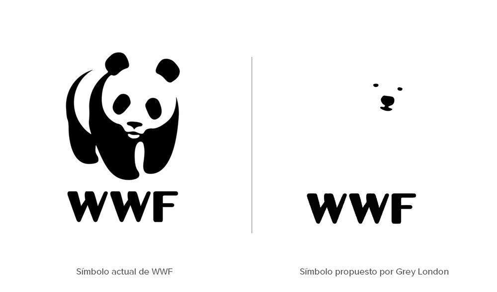 rediseño del símbolo de WWF