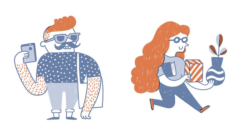 tipos de creativo - Ilustraciones de Miguel Bustos