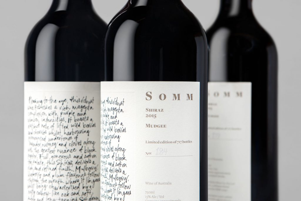 Packaging vino sumiller Botella Somm