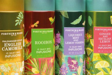 Hierbas y frutas decoran el nuevo packaging de tés Fortnum & Mason
