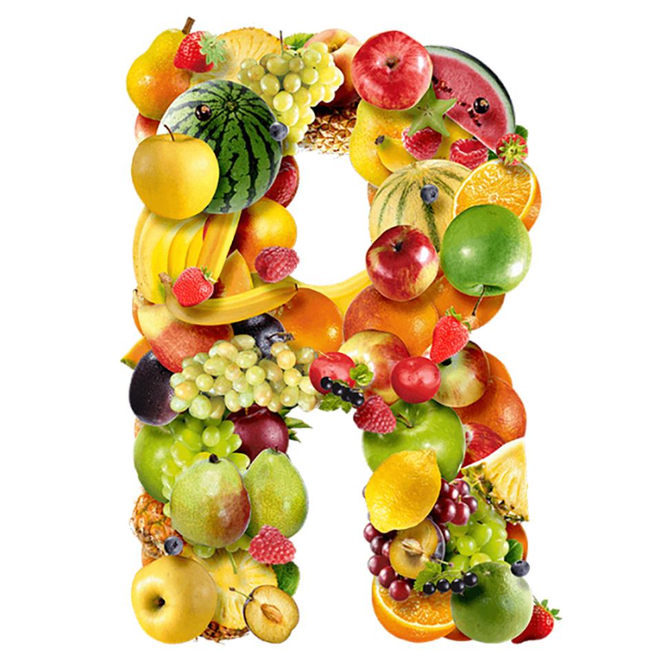 Fruits-font-letter-