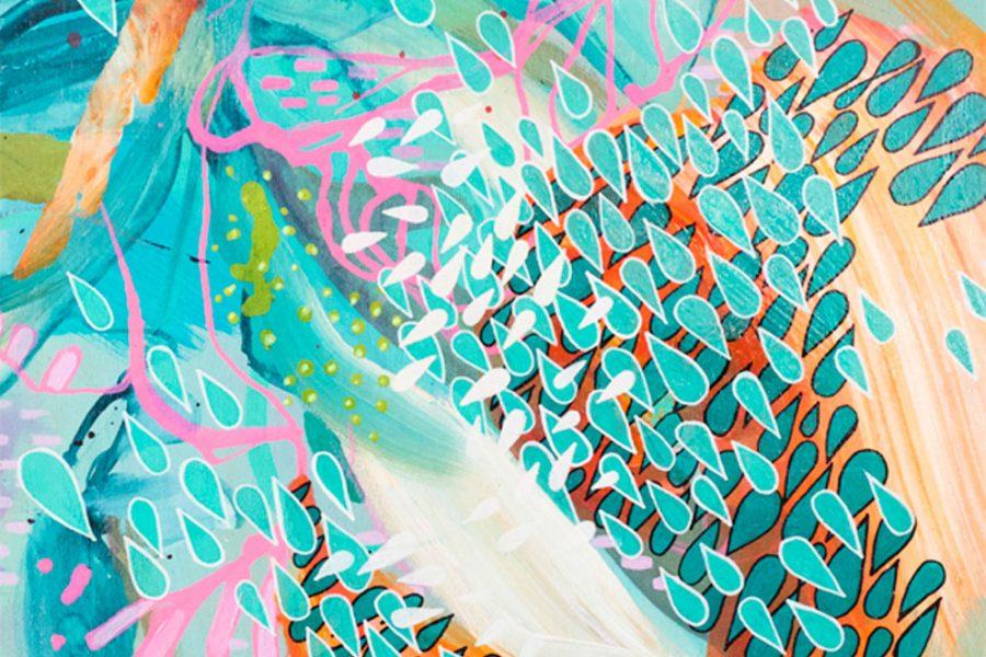 Julia Benz, ilustraciones de bases abstractas que se enredan con lo vegetal