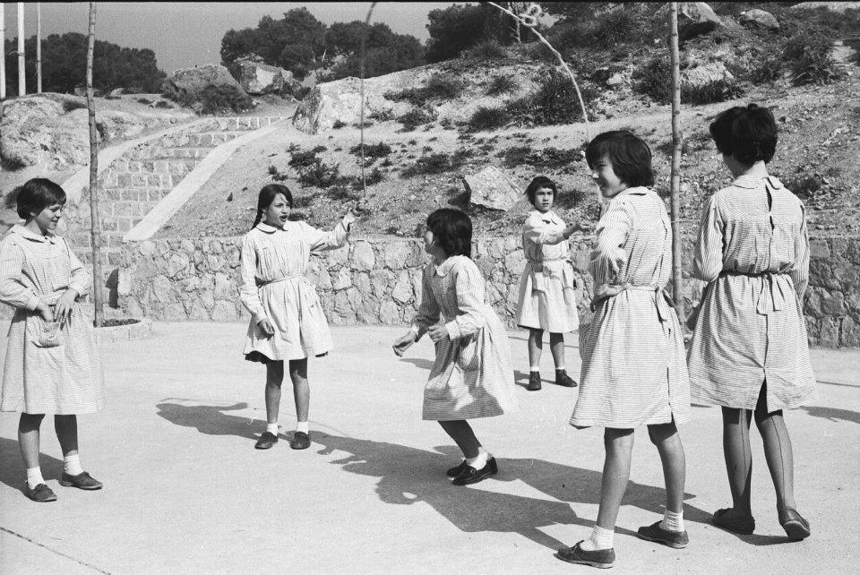 Patio del colegio Carmen Tronchoni, por Milagros Caturla