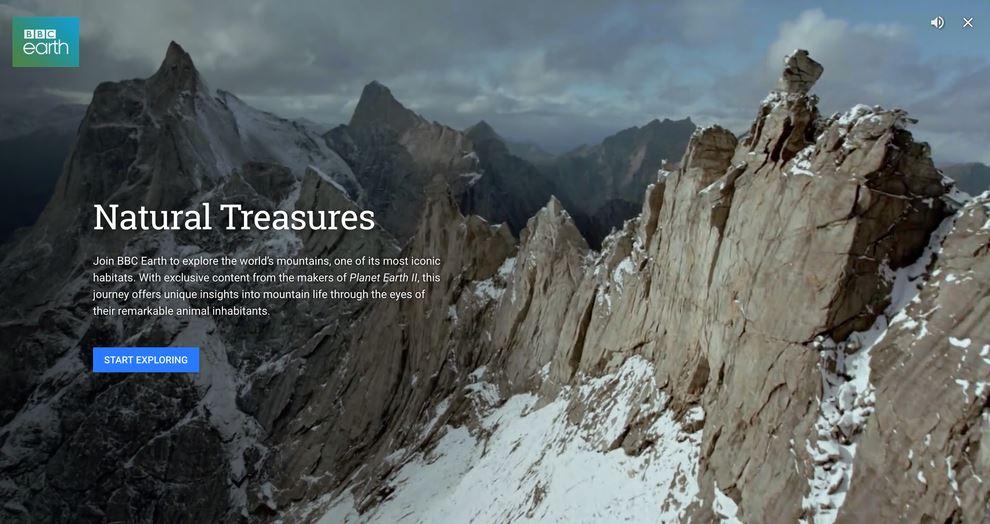 Nueva herramienta Voyager de Google Earth, en colaboración con BBC World Wide