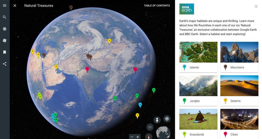 Nueva herramienta Voyager de Google Earth