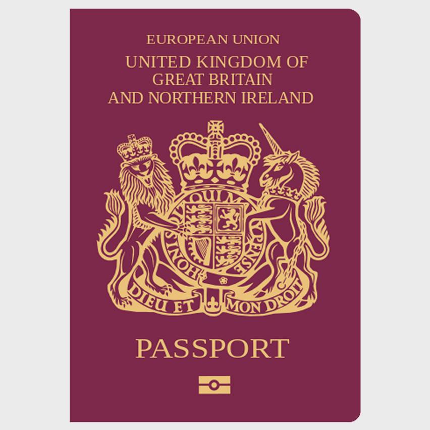 Pasaporte actual Reino Unido