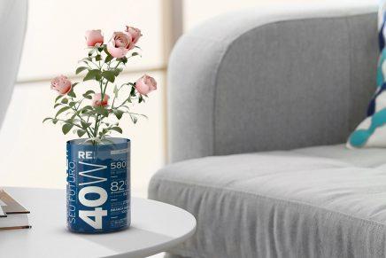 Un packaging ecológico de bombillas que puede ser reutilizado