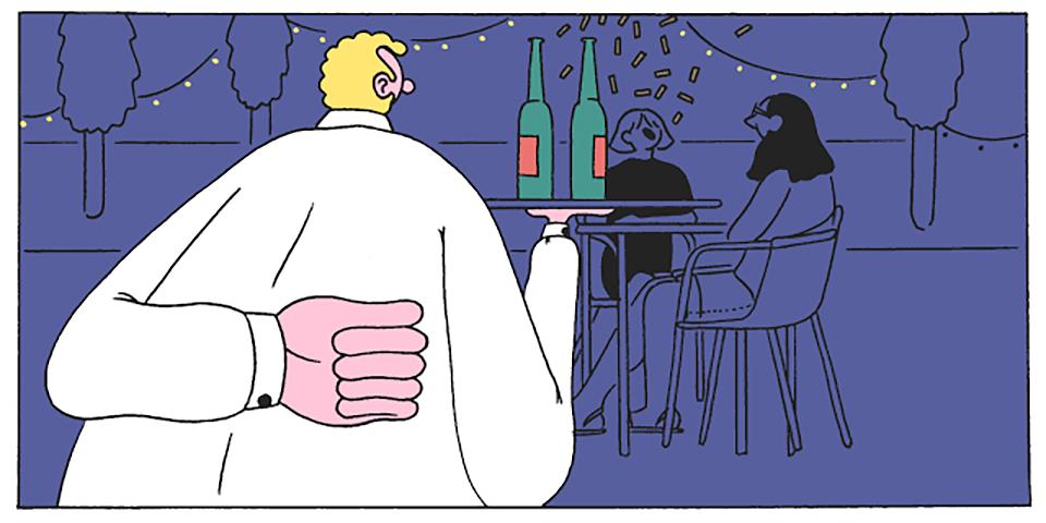 Ilustración camarero Conxita Herrero 01