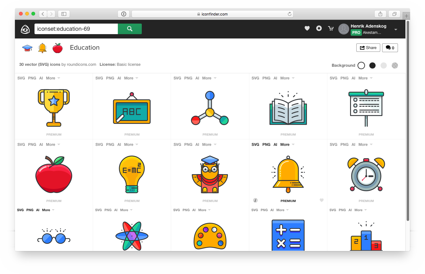 categorias iconfinder