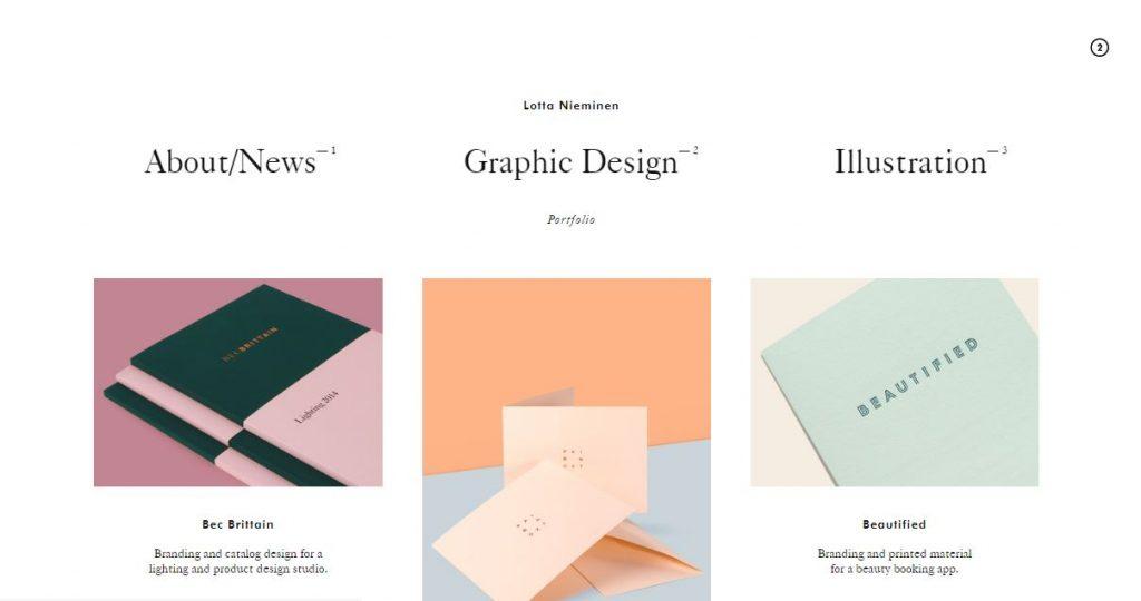 Cómo crear portfolio atractivo Portfolio Lotta Nieminen