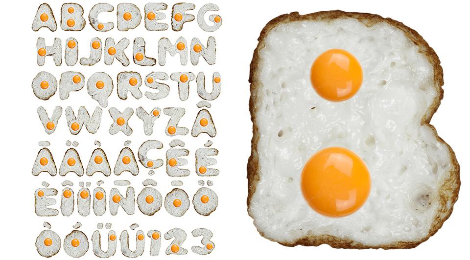Eggs font letter01