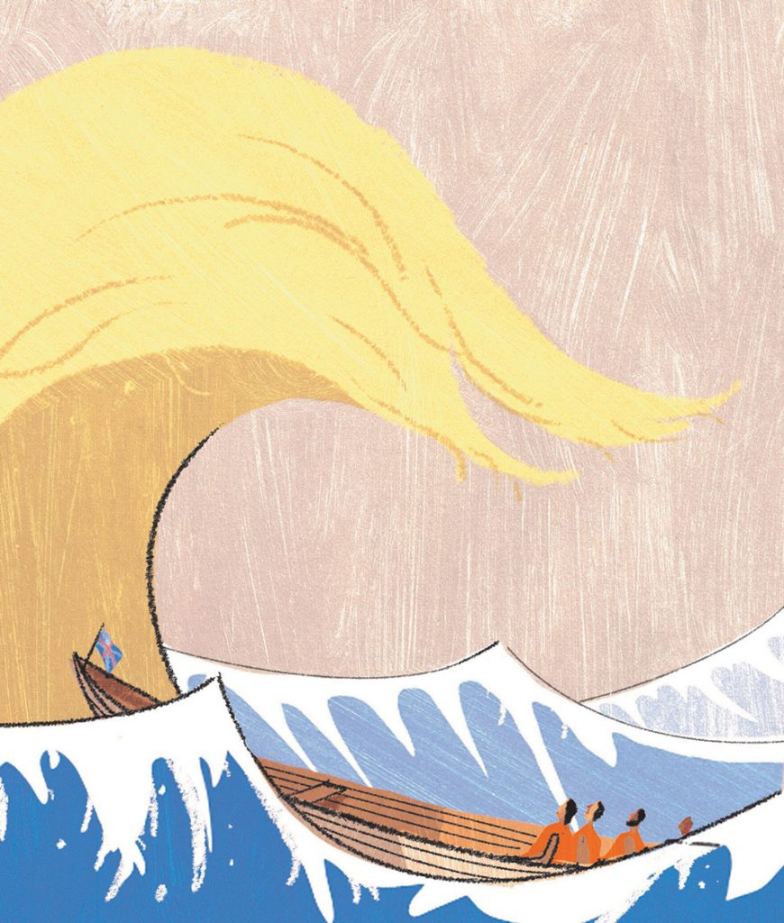 V&A Best Editorial Illustration and overall winner. Richard Allen,Trump Wave,The Sunday Telegraph Money