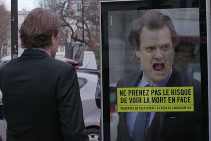 'No te arriesgues a mirar a la muerte a la cara', la impactante campaña de seguridad vial francesa