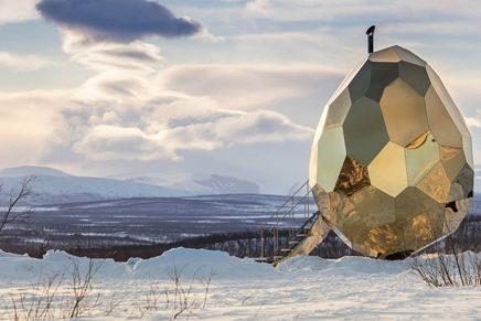 Solar egg, la instalación artística del estudio Bigert y Bergström que es una sauna