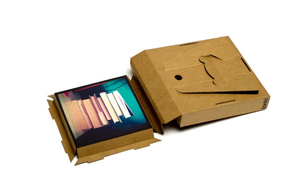 Tonki está realizado en cartón reciclado y de 70 gramos