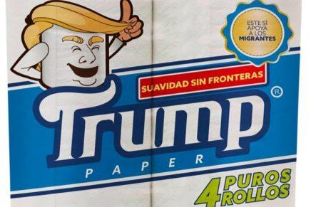 El nuevo papel higiénico Trump asegura 'suavidad sin fronteras'
