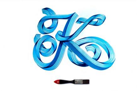 La caligrafía tridimensional de Vincent de Boer