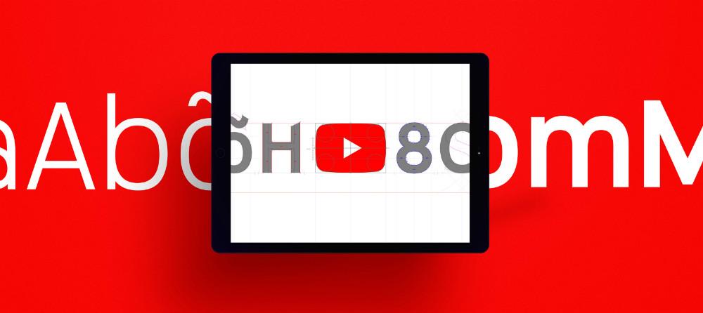 El 'botón play' inspira las líneas de Youtube Sans