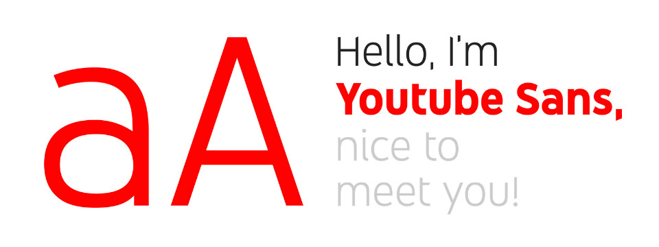 Youtube Sans, la nueva tipografía de Youtube