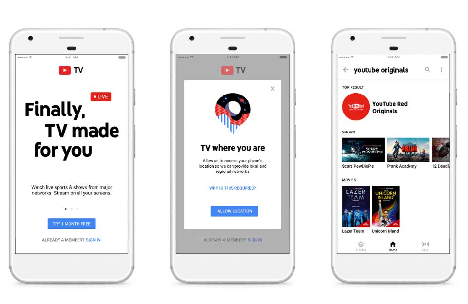 YoutubeTV puede verse en múltiples dispositivos