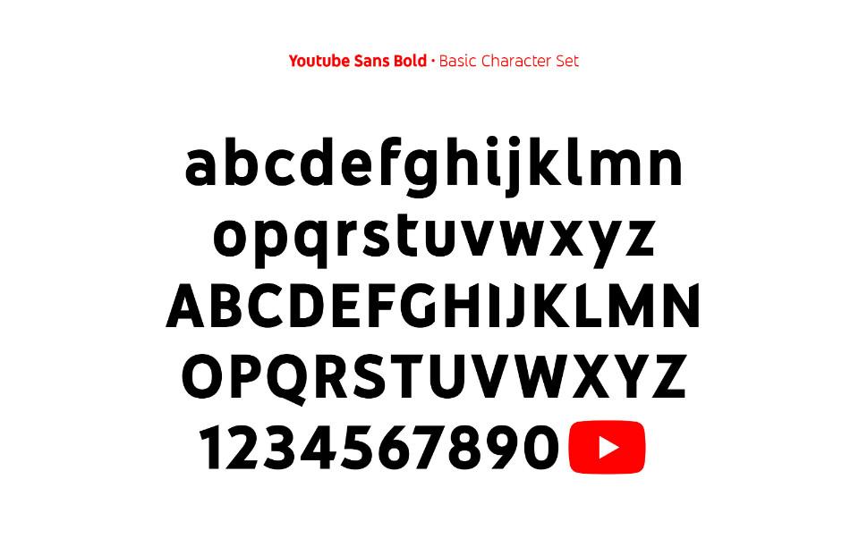 El logo de Youtube se ha convertido en un glifo y forma parte de Youtube Sans