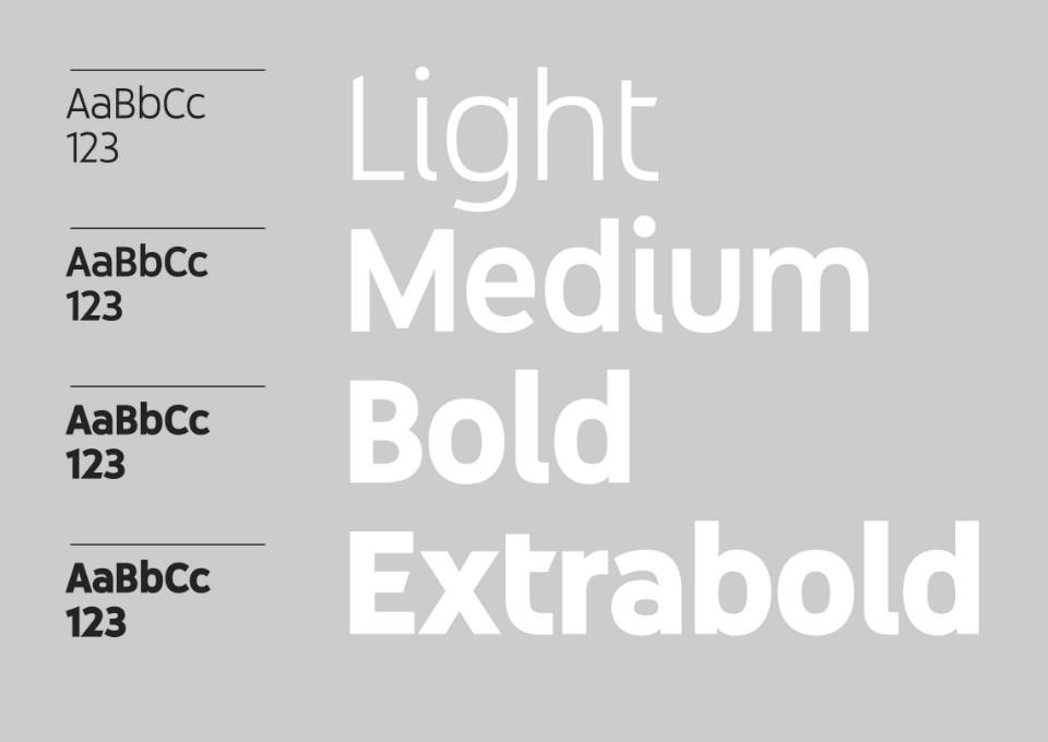 Youtube Sans incluye light, medium, bold y extrabold