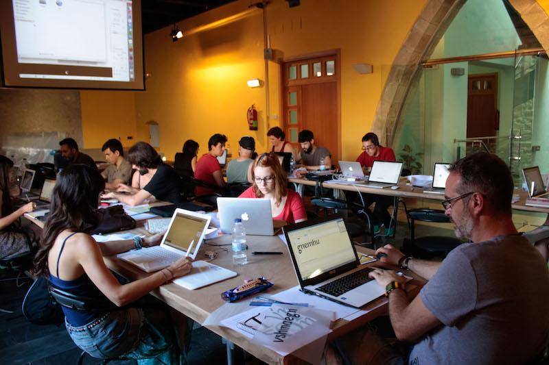 Alumnos de la última edición de Glíglifo