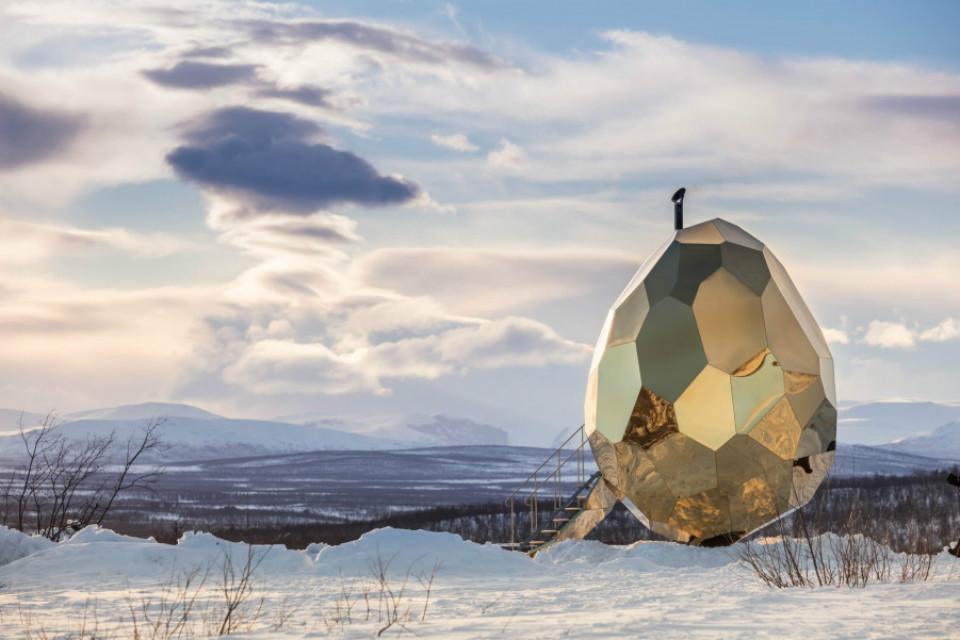 Solar Egg, la sauna e instalación artística