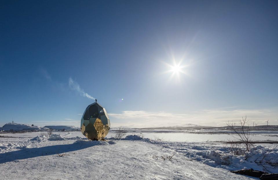 Solar Egg, la sauna pública e instalación artística de Kiruna