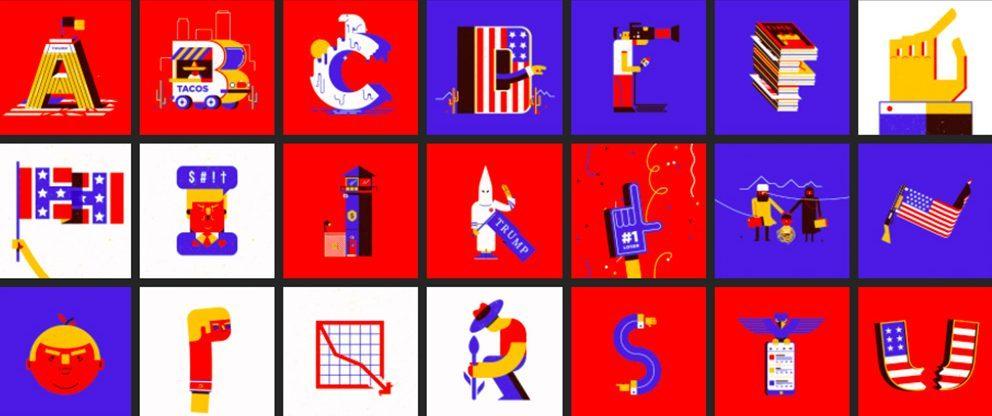 Conjunto abecedario Donald Trump