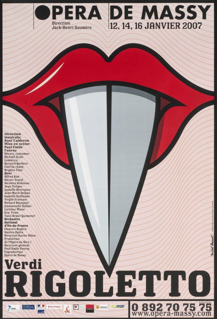 Cartel de Michel Bouvet en el que se observa la cotidianidad de los objetos que copan la iconografía del artista