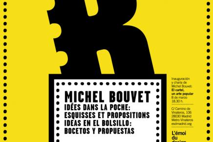 Los objetos cotidianos son los protagonistas de los carteles y grafismos de Michel Bouvet